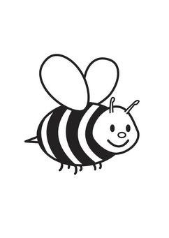 Kleurplaat Bij Ha Pinterest Bee Coloring Pages And Bee