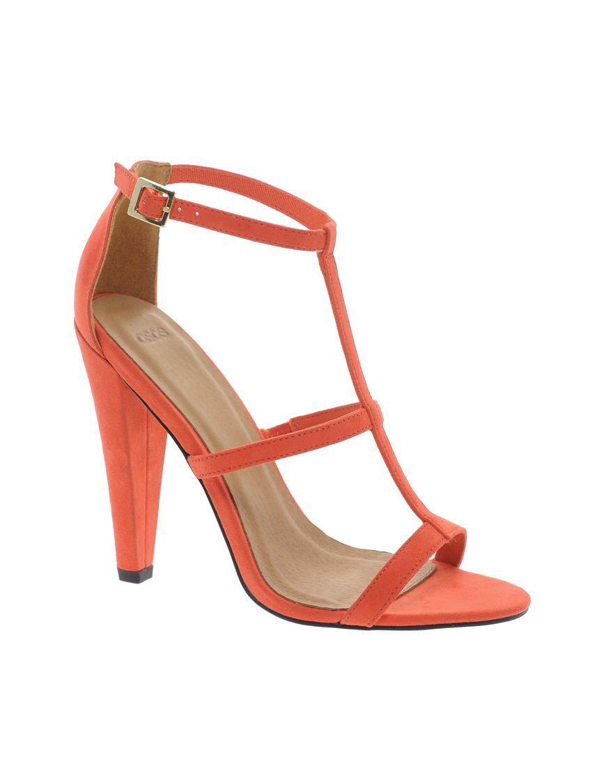 068a3ae0795 Orange Heeled Sandals