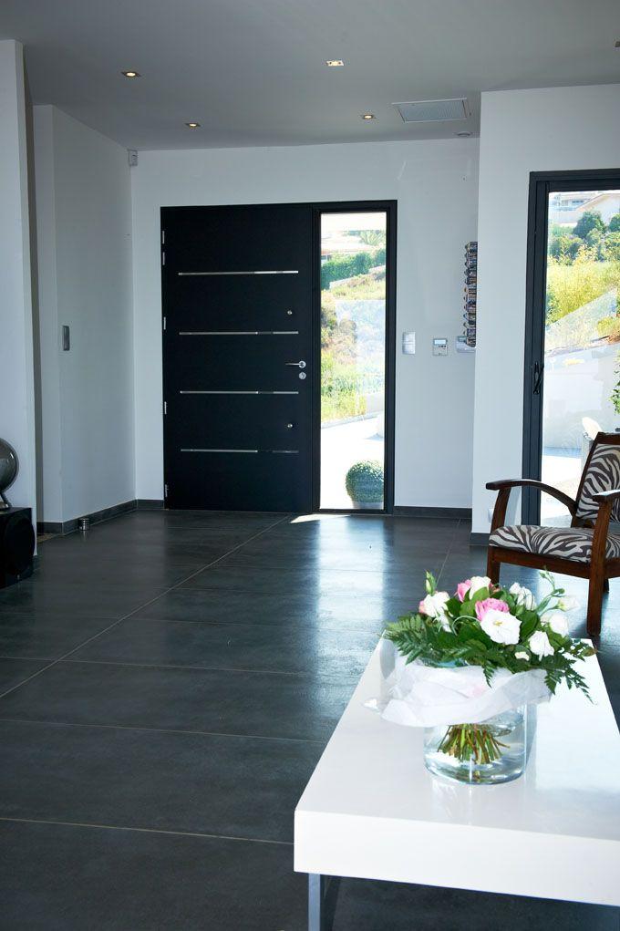 Porte de garage sectionnelle acier gris anthracite EXCELLENCE, 200 x - etancheite porte d entree