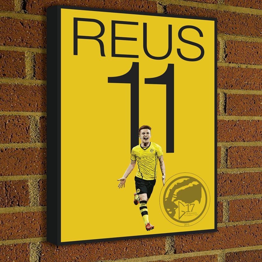 Marco Reus Canvas Print - BVB - German Soccer Poster #soccer ...