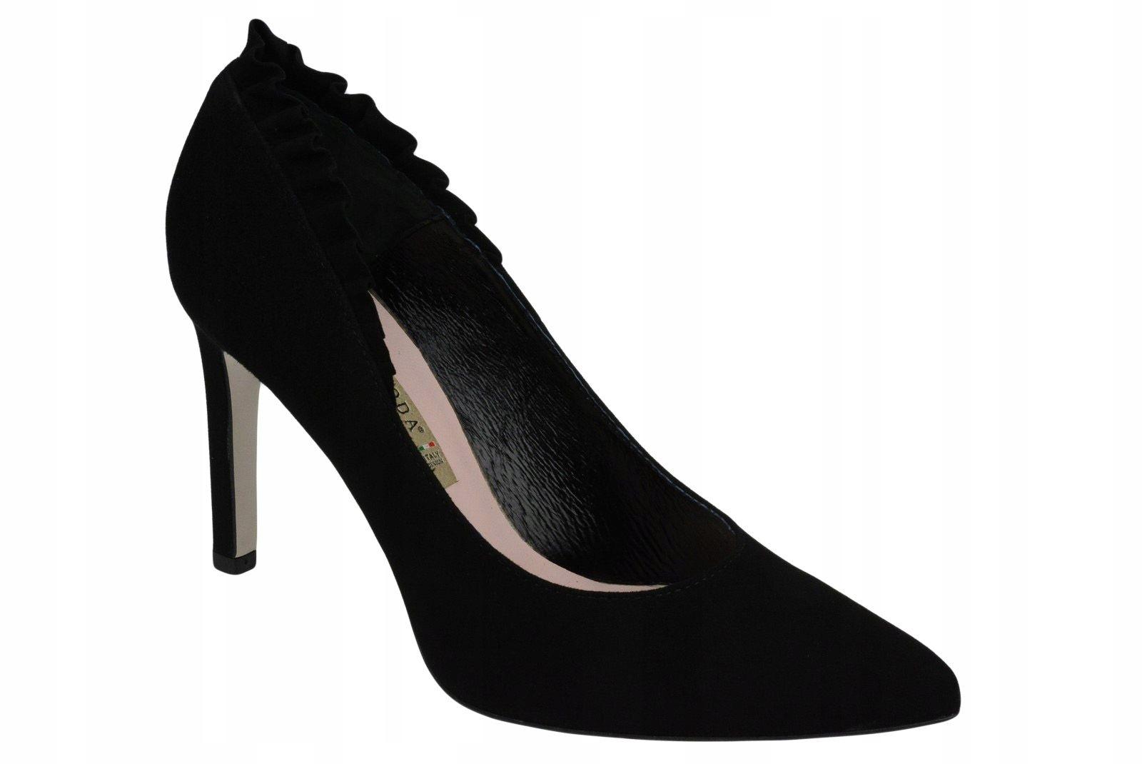 Bravo Moda Szpilki Czarne Skora 1600 38 7695101784 Oficjalne Archiwum Allegro Stiletto Heels Heels Stiletto