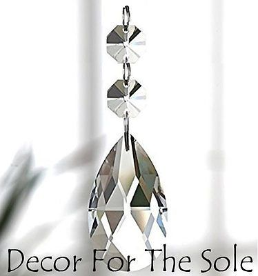 10 Clear Teardrop Chandelier Glass Hanging Replacement Crystals Prisms Drops Crystal Chandelier Crystal Suncatchers Crystal Prisms