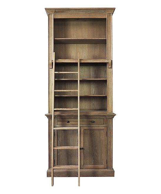 Sarreid Ltd Oak Bookcase Ladder