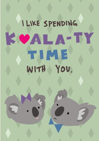 Preorder Koala Valentine Card Individual Funny Koala Funny Cat Compilation Koala
