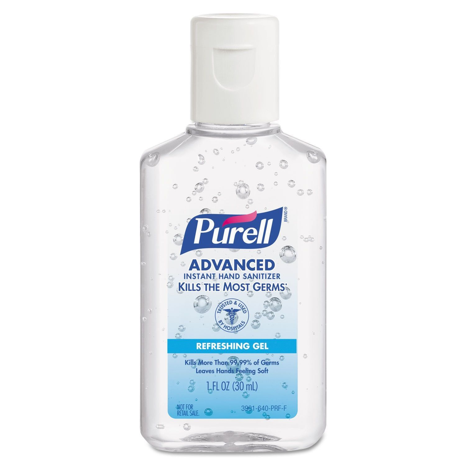 Purell Advanced Instant Hand Sanitizer Gel 1 Ounce Bottle Lemon