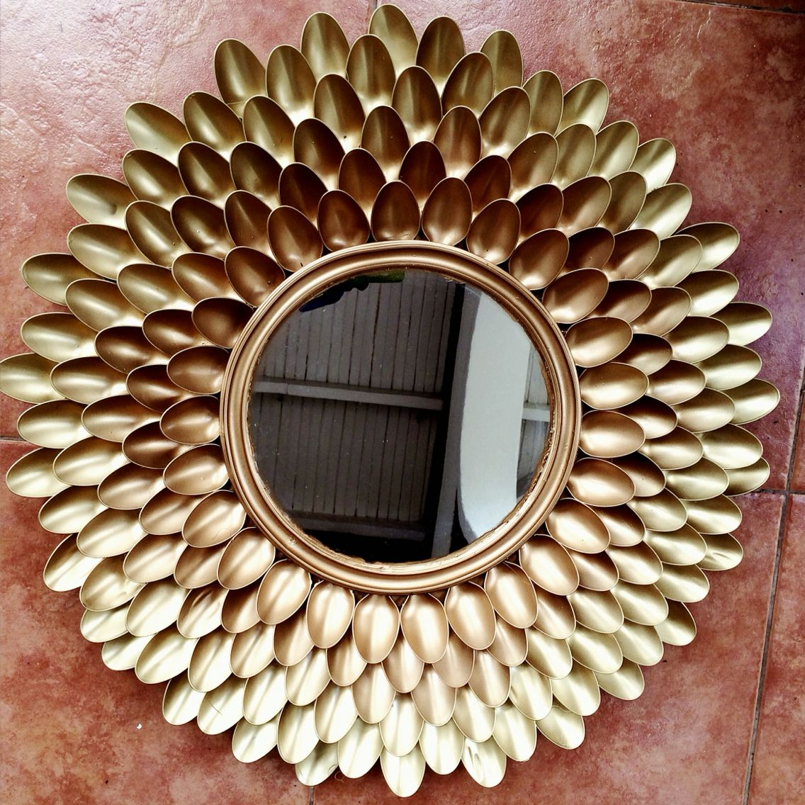 Spoon Mirror Diy Chrysanthemum Spoon Mirror Spoon Mirror Small Mirrors And