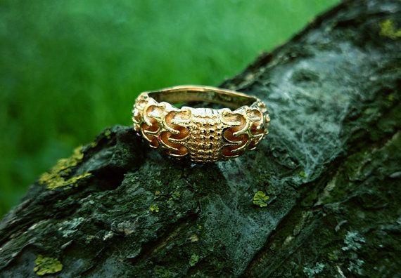Odin s Ring Draupnir ring Gold Viking Ring by BerlogaWorkshop