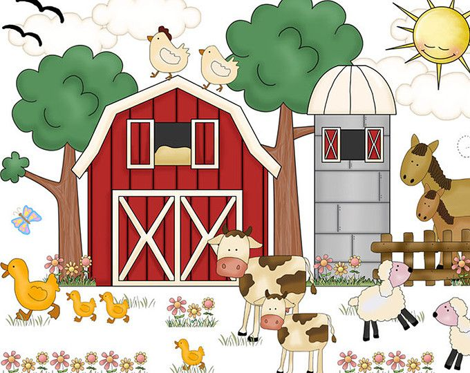 Farm Animal Nursery Decals Baby Barnyard Wall Art Stickers