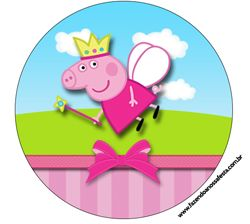 """Imprimés Thème """"Peppa Pig Princesse"""" : http://fazendoanossafesta.com.br/2014/01/peppa-pig-princesa-kit-completo-com-molduras-para-convites-rotulos-para-guloseimas-lembrancinhas-e-imagens.html/"""