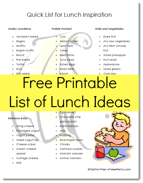 Easy Healthy Lunch Ideas For Kids And Mom Too