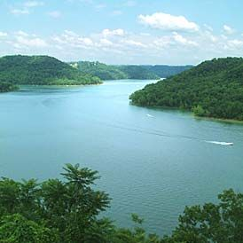 Center hill lake tennessee chart of tn fishing waters for Fishing lakes in tennessee