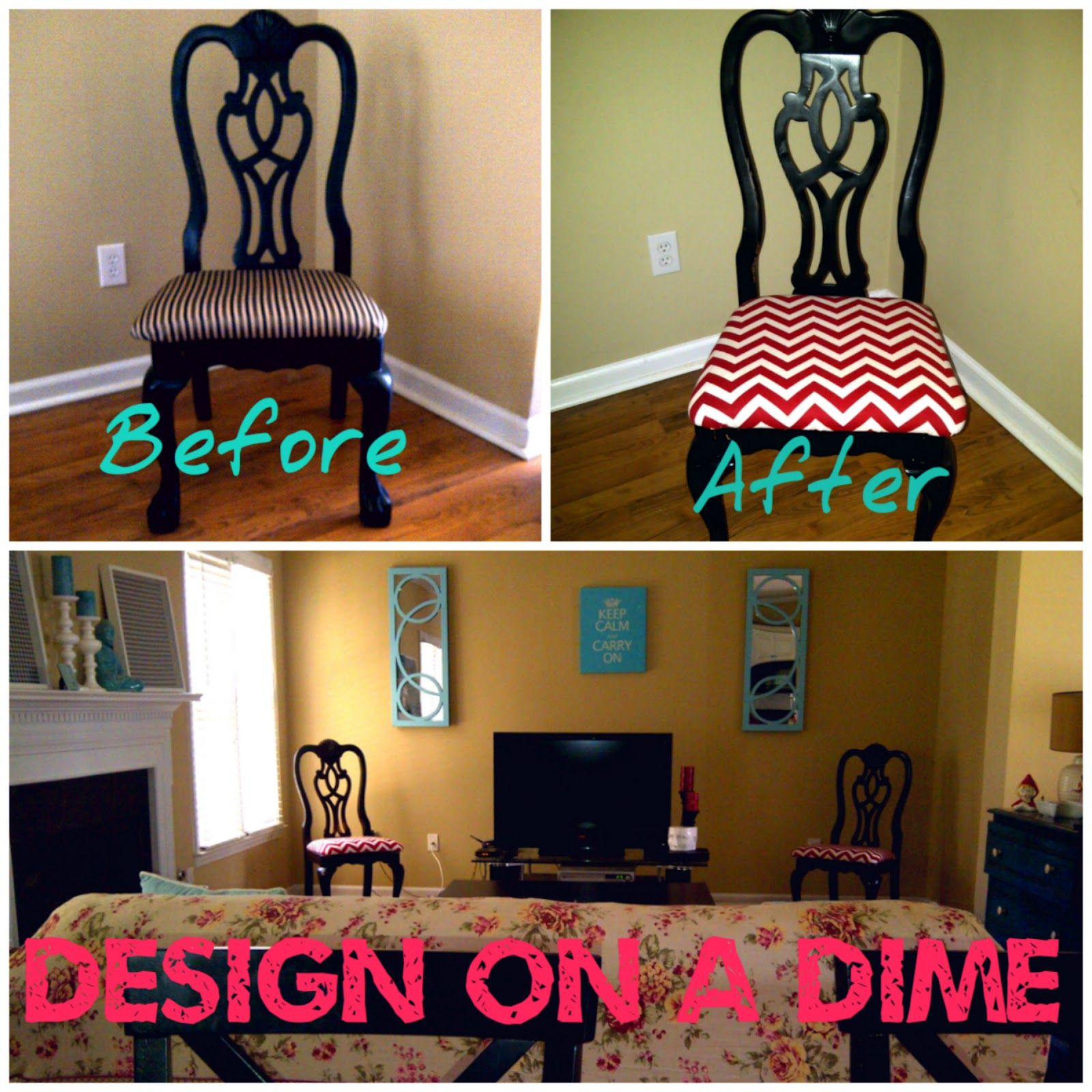 decorating on a dime pinterest design on a dime family room chevron chairs makeover 12059
