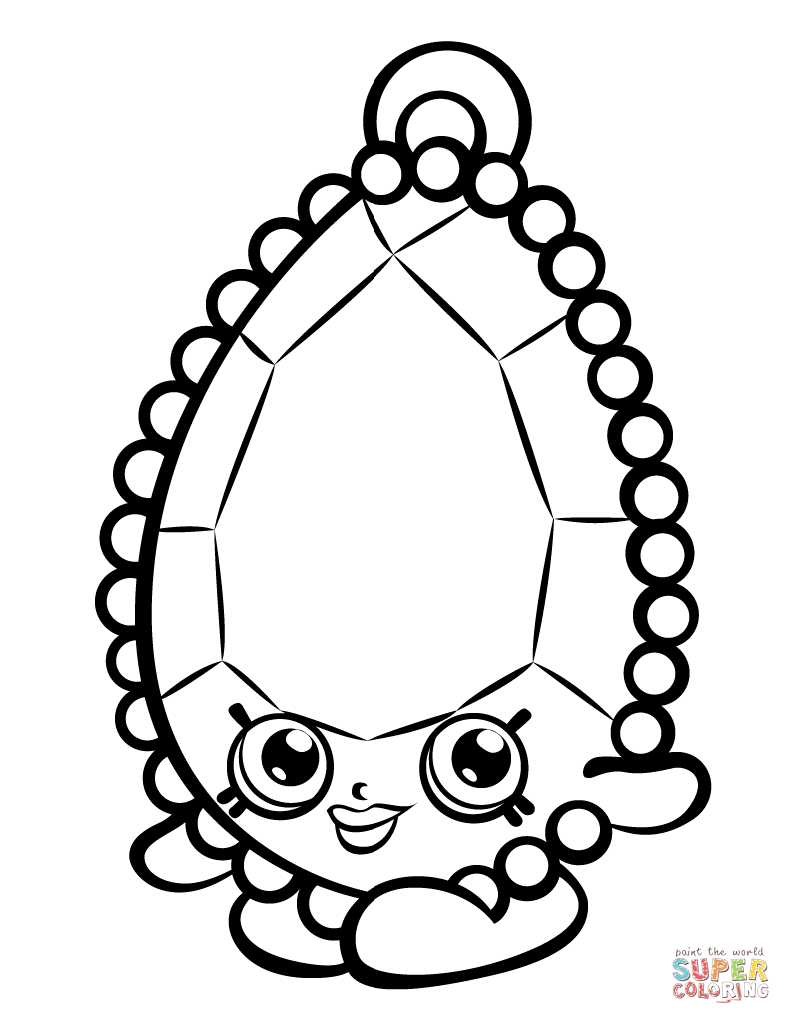 Brenda Brooch Shopkin coloring page Free Printable