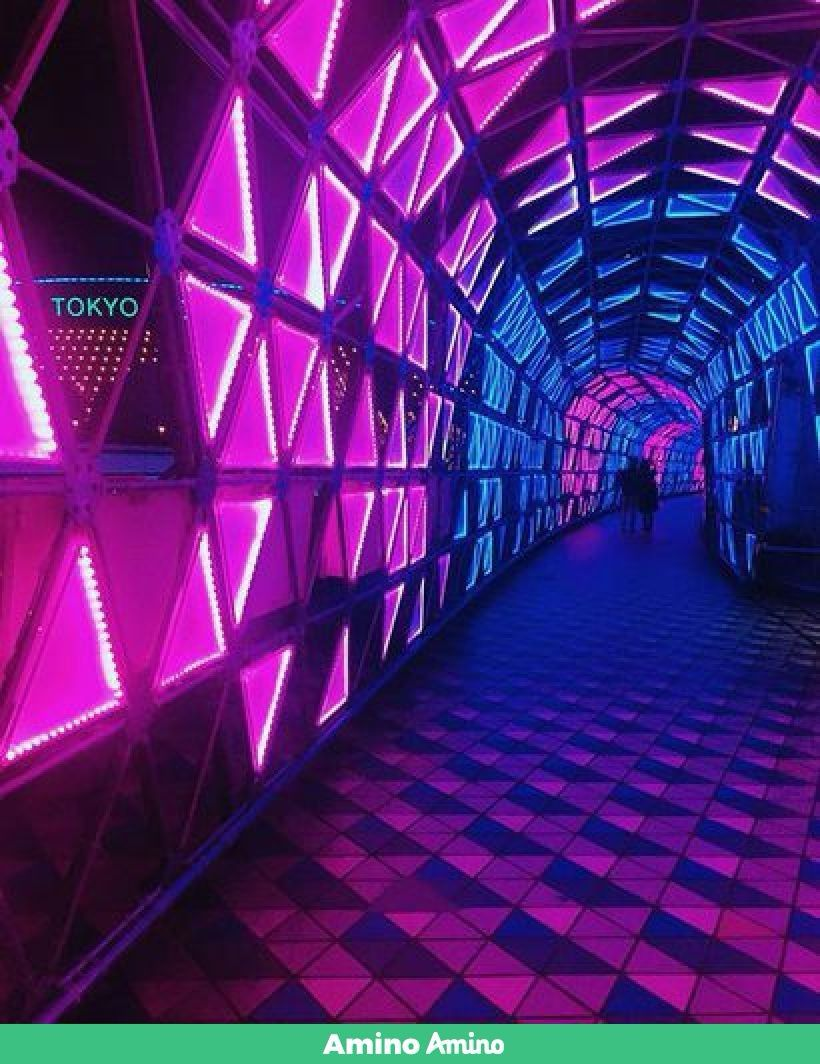 Pink And Purple Neon Aesthetic Wallpaper