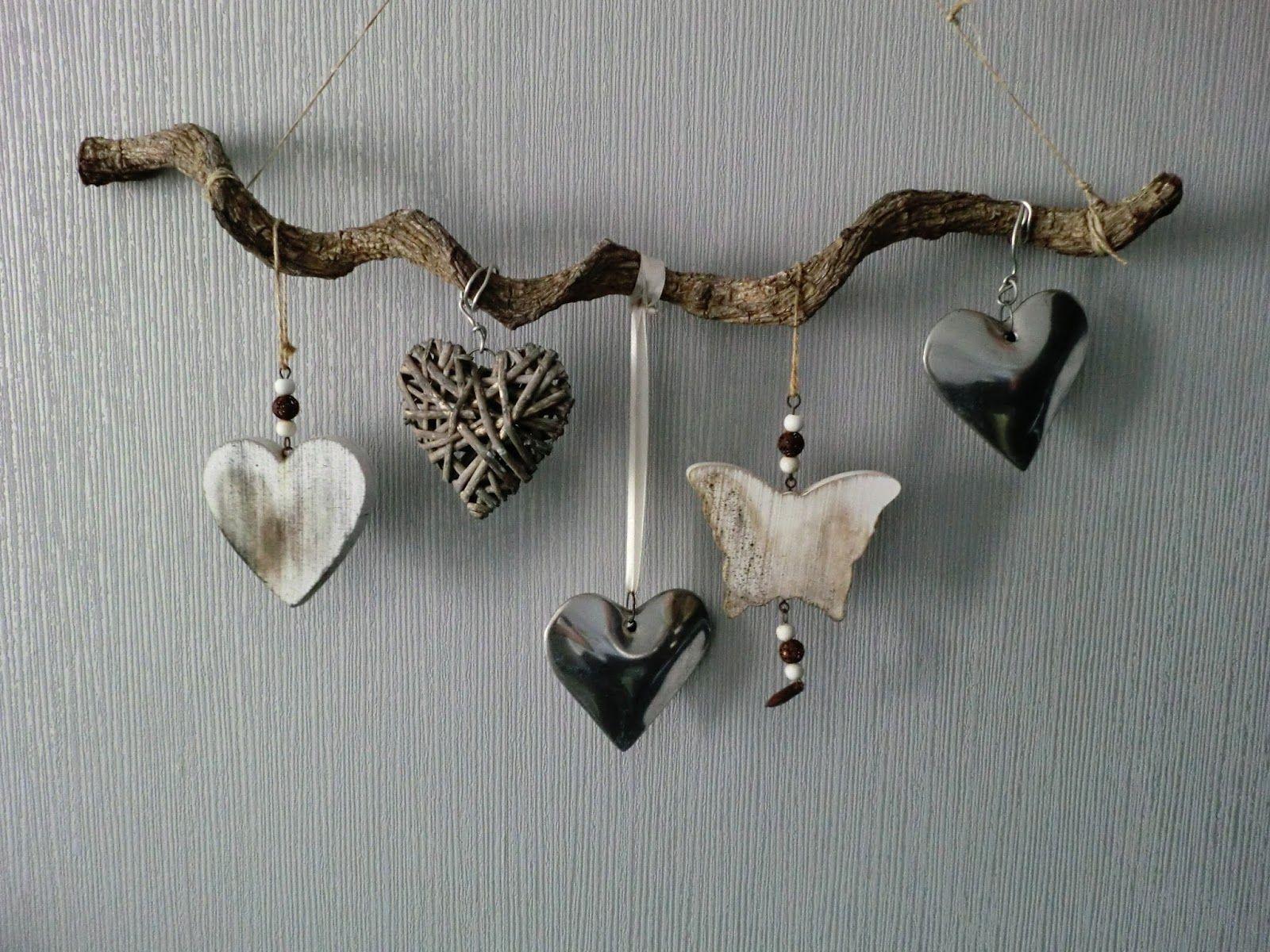 Hout aan de muur leuk mooi lief decoratie tak home diy