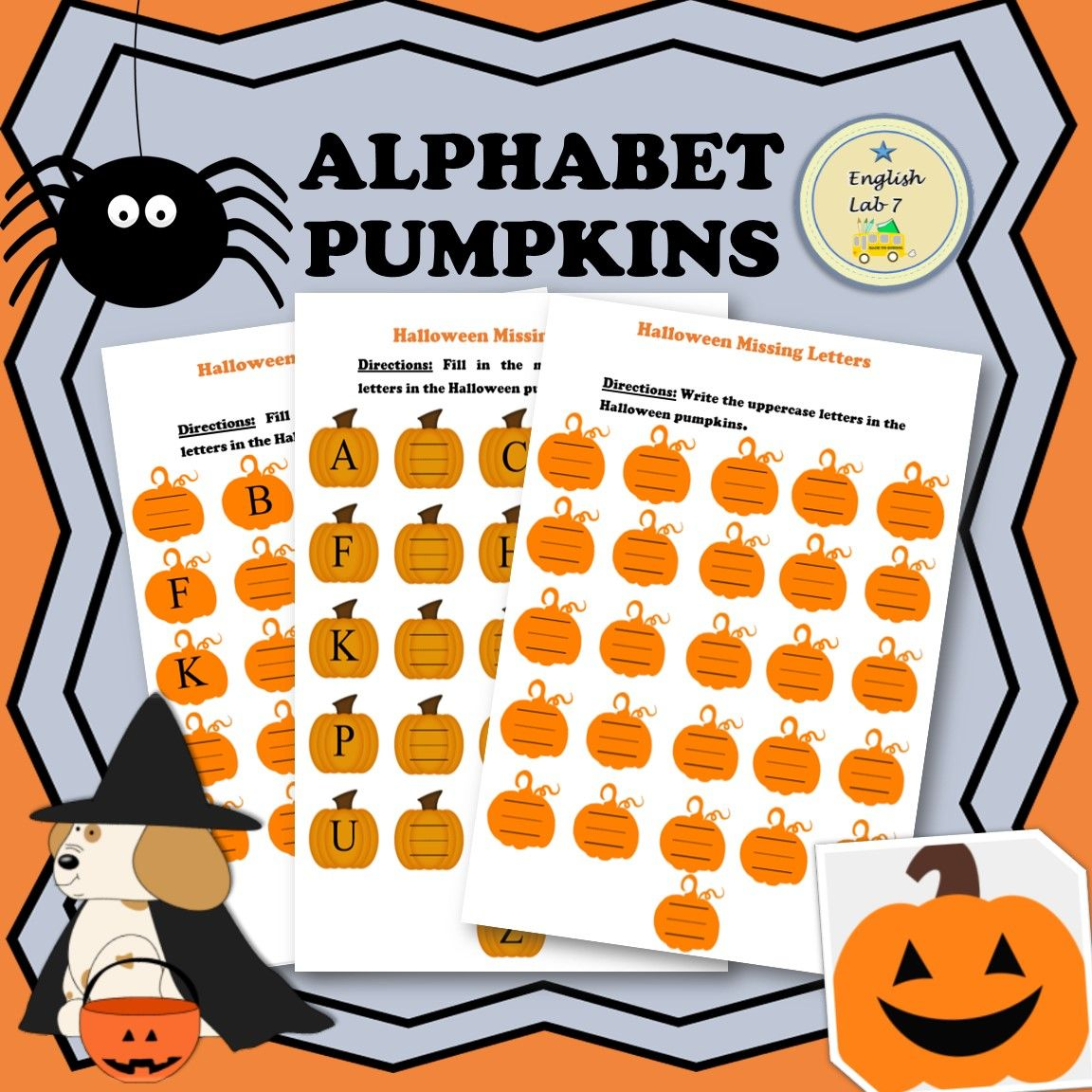 Halloween Alphabet Writing Worksheets