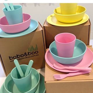 Safe and stylish bamboo dinnerware sets for kids & Safe and stylish bamboo dinnerware sets for kids | Unique baby ...