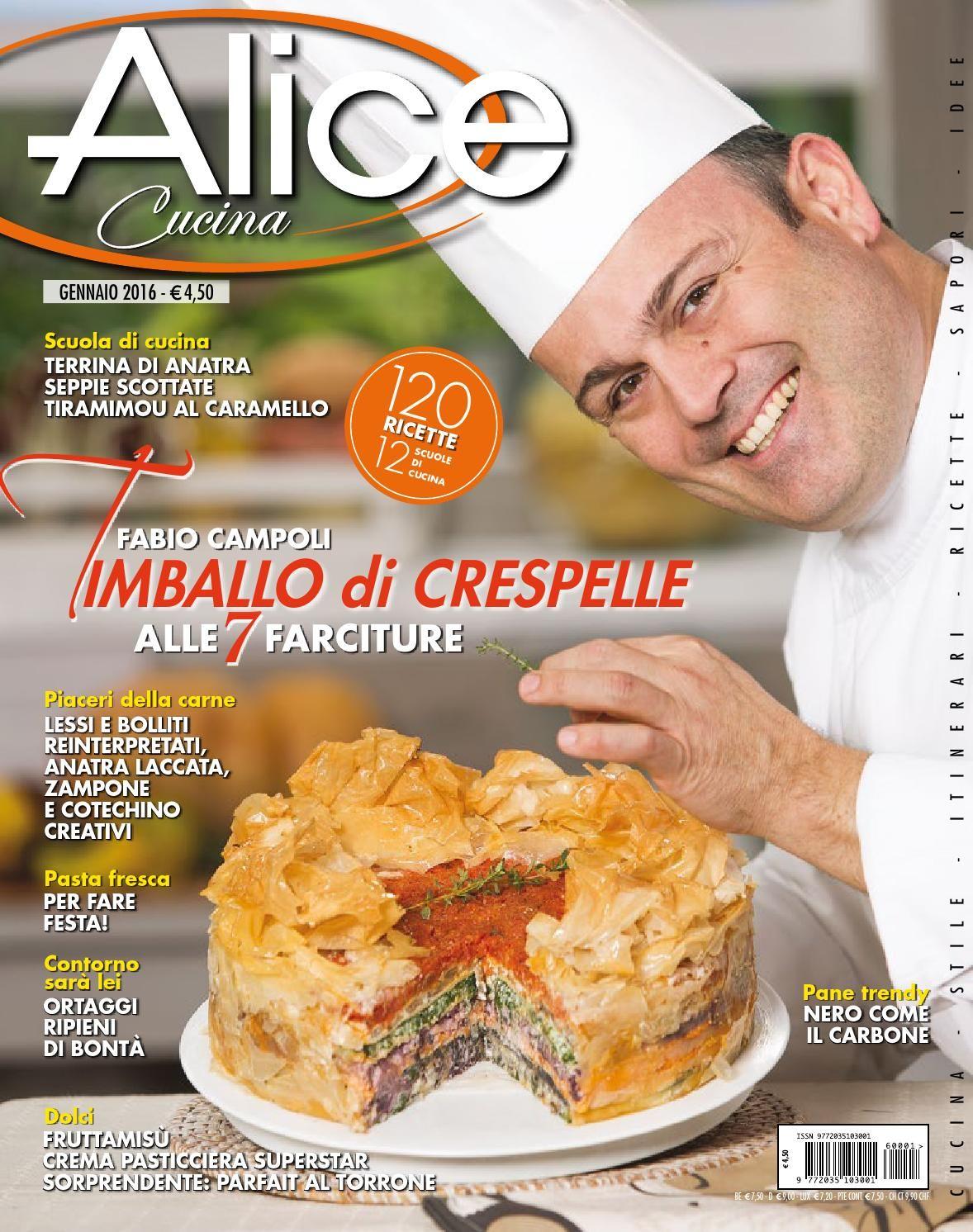 Alice cucina 01 2016 mar libri di cucina ricette for Alice cucina ricette