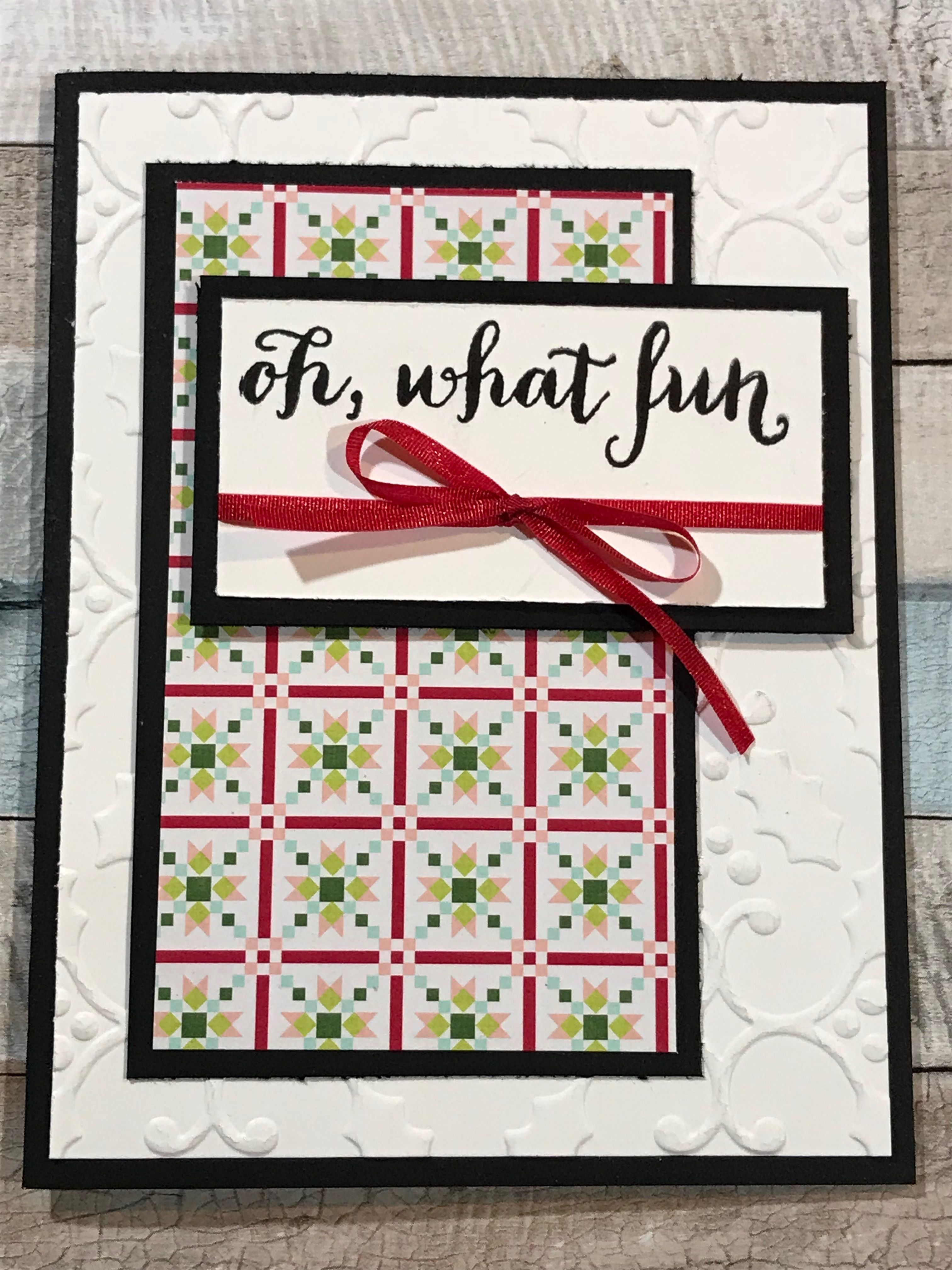 Oh What Fun Stamp Set - Christmas Card | Stampin\' Up! Cards I\'ve ...
