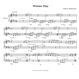 Winter Day Sheet Music | Romantic piano music by Andrey