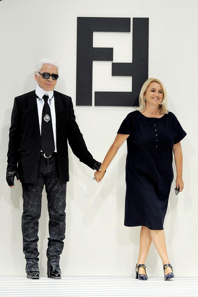 Karl Lagerfeld And Silvia Venturini Fendi Fashion Fashion Design Fashion Show