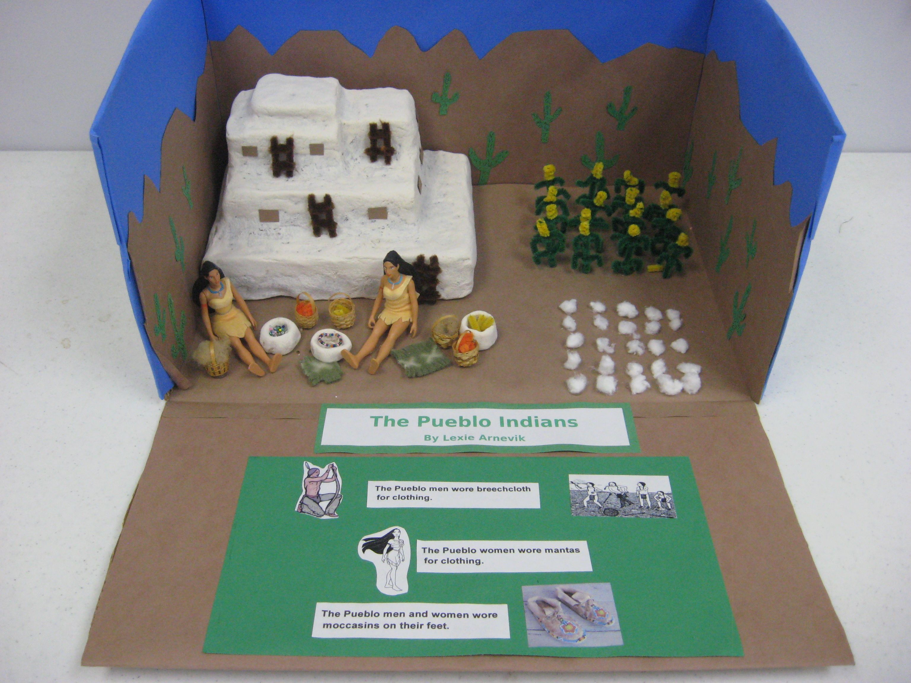 Image result for native american kids art and crafts Make a Native American Landscape Viewing Box