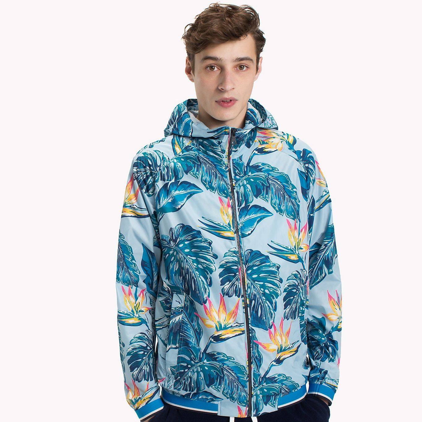 Image For Tropical Print Lightweight Jacket From Tommyse Outerwear Jackets Tommy Hilfiger Man Jacket Tommy Hilfiger [ 1364 x 1364 Pixel ]