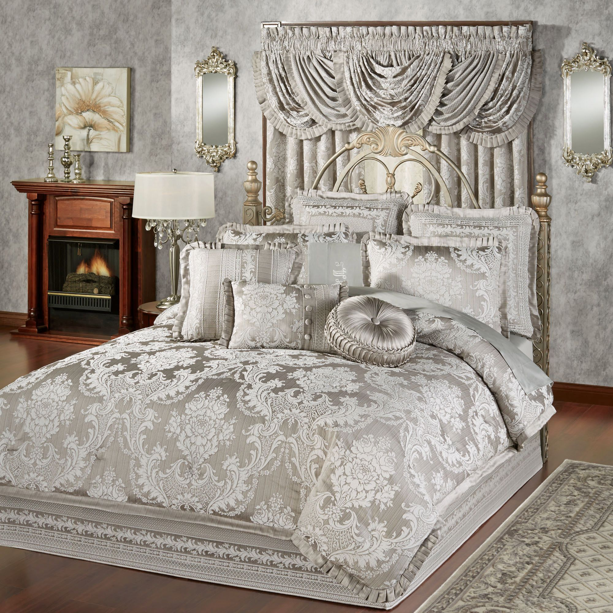 Bellamy silver gray comforter bedding comforter gray for Bedroom ideas silver