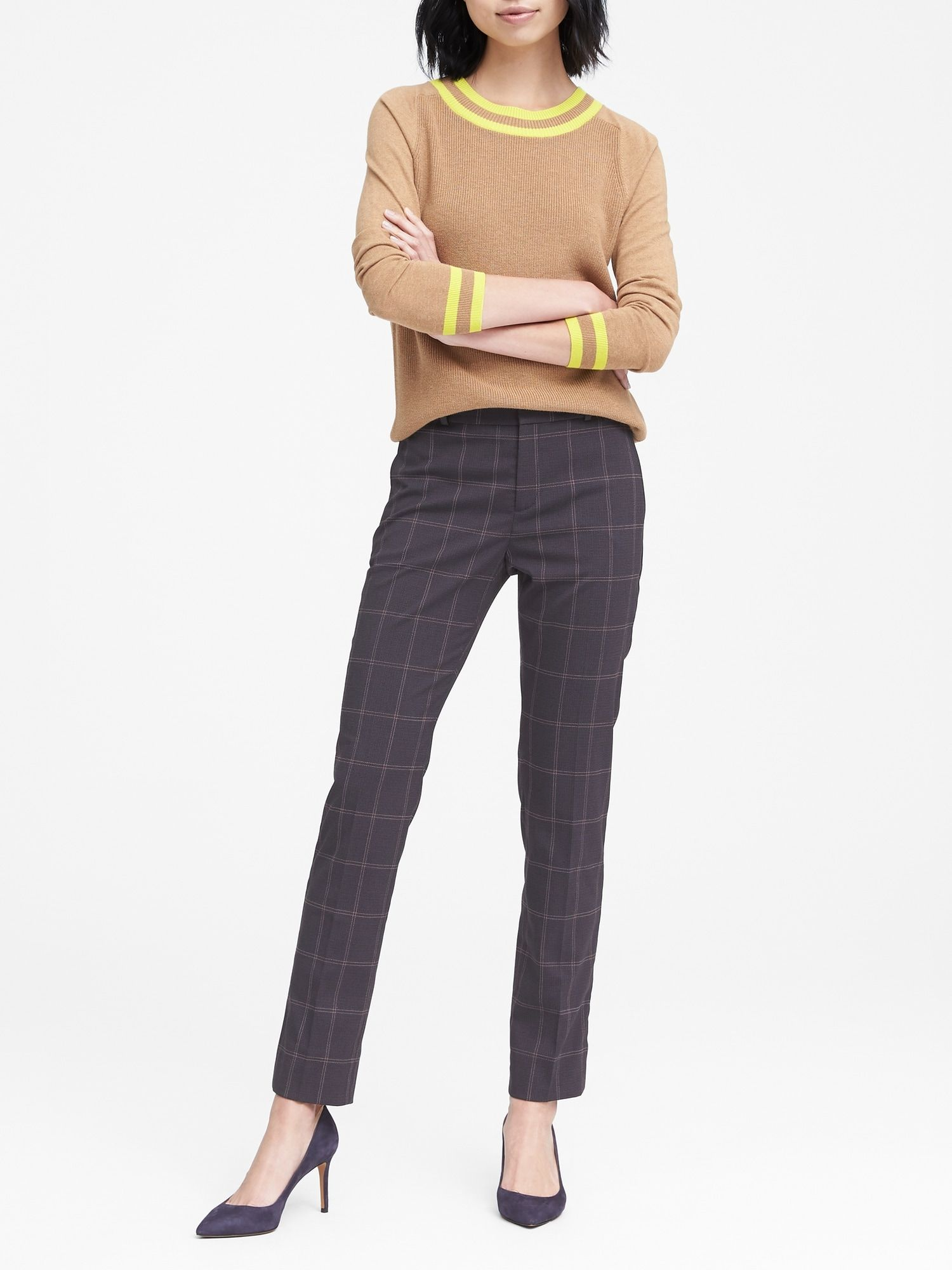 5361206a35ee0d Ryan Slim Straight-Fit Machine-Washable Windowpane Pant | Banana Republic