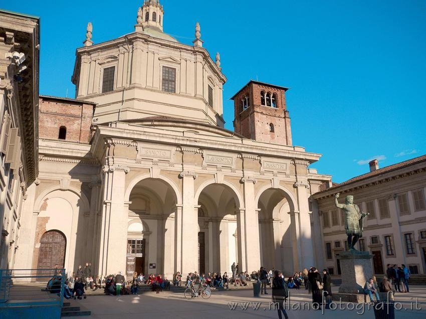 Basilica of San Lorenzo in Milan (Italy) (con immagini ...