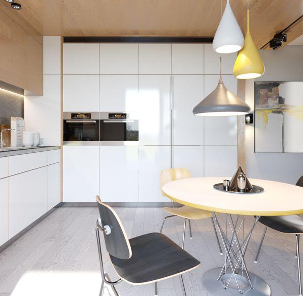 Crisp Snug Condominium Designs   Apartment design, White ...