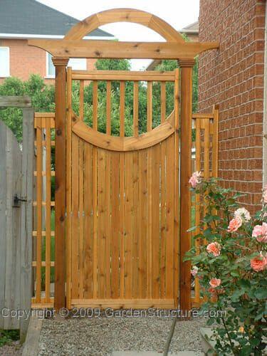 Curved Gate Plans G001 Diy Build A Circular Style Gate With Trellis Wooden Garden Gate Garden Gate Design Fence Gate Design