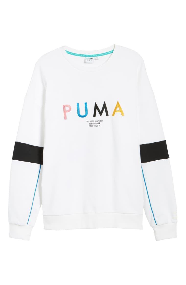 Puma Last Dayz Embroidered Crewneck Sweatshirt Nordstrom Sweatshirts Crew Neck Sweatshirt Sweatshirt Fashion [ 1164 x 760 Pixel ]
