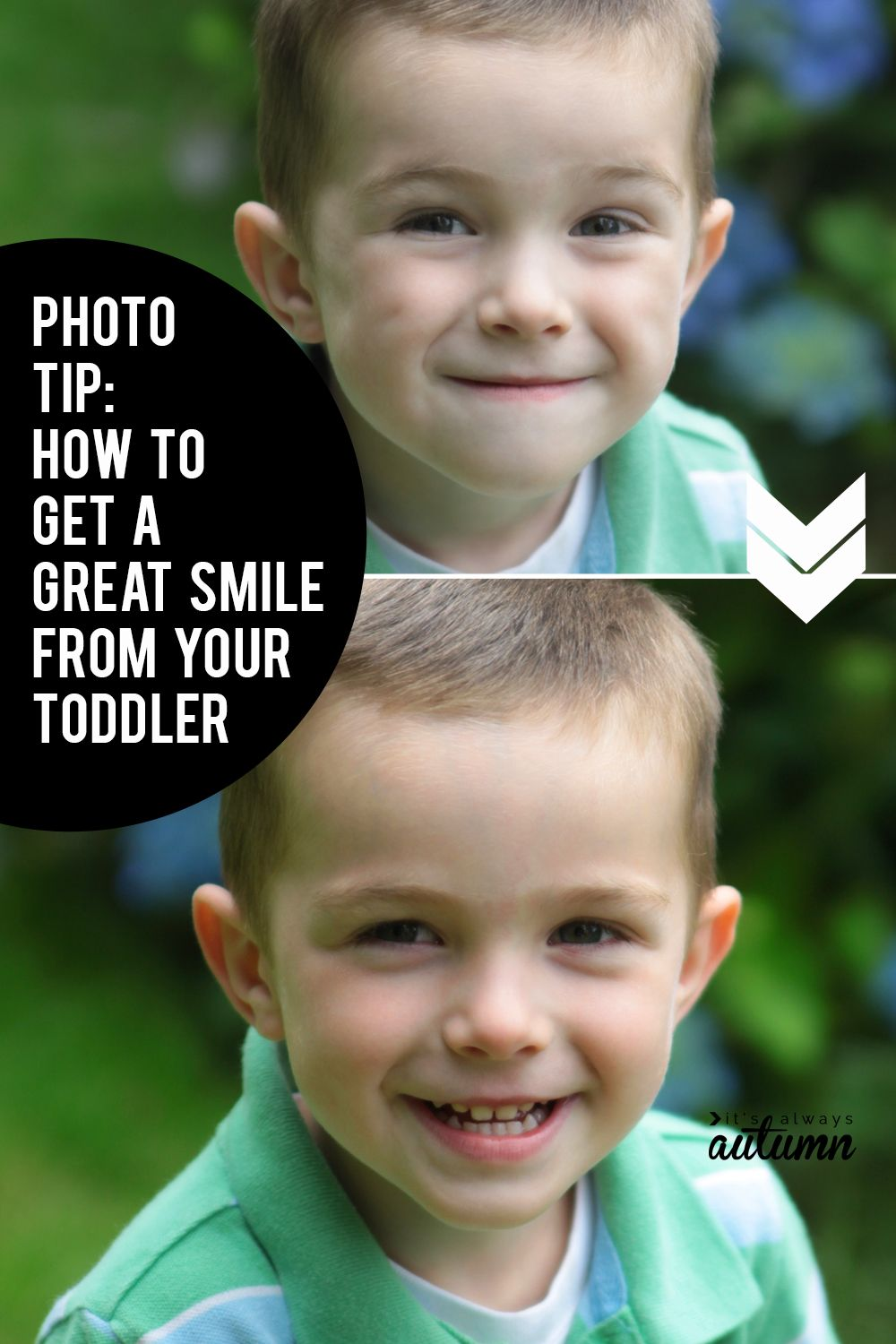 How To Get A Toddler To Smile For Pictures