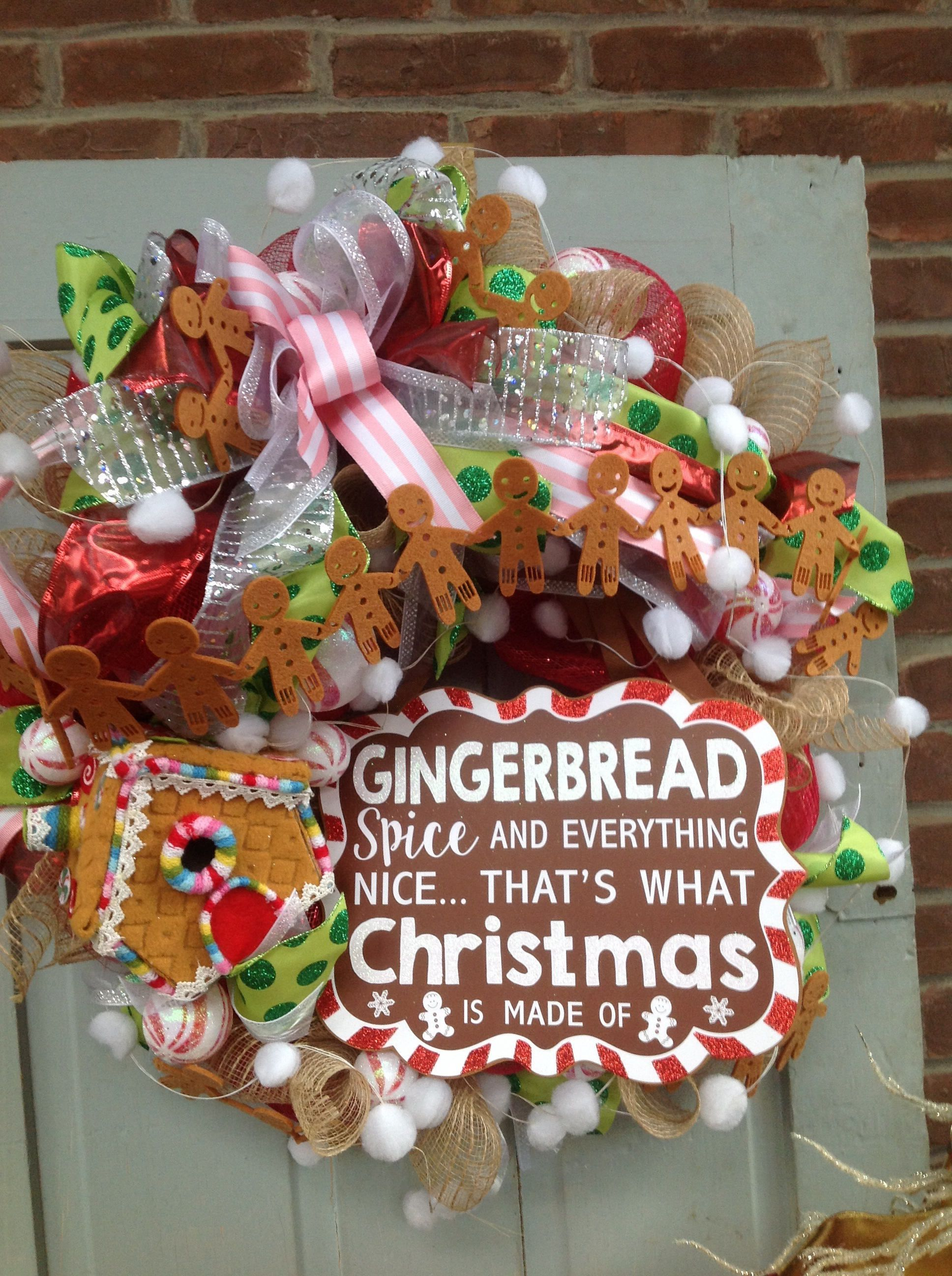 Winter Wreaths Part - 29: GINGERBREAD WREATH Wreath With Candy- Christmas Wreath, Winter Wreath,  Cookies Wreath By TheLemonadeBoutique
