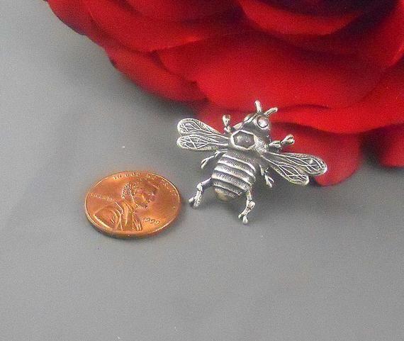 fdbee84699e Silver Bumble Bee Tie Pin Tack Honey Bee Tie Tack Clip Lapel Pin Small Bumble  Bee Tie Clip