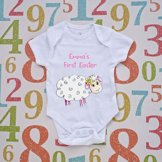 Easter gift personalised baby lamb t shirt baby grow baby top easter gift personalised baby lamb t shirt baby grow baby top childs gift girls personalized shirt toddler present baby lamb personalised baby and lambs negle Gallery