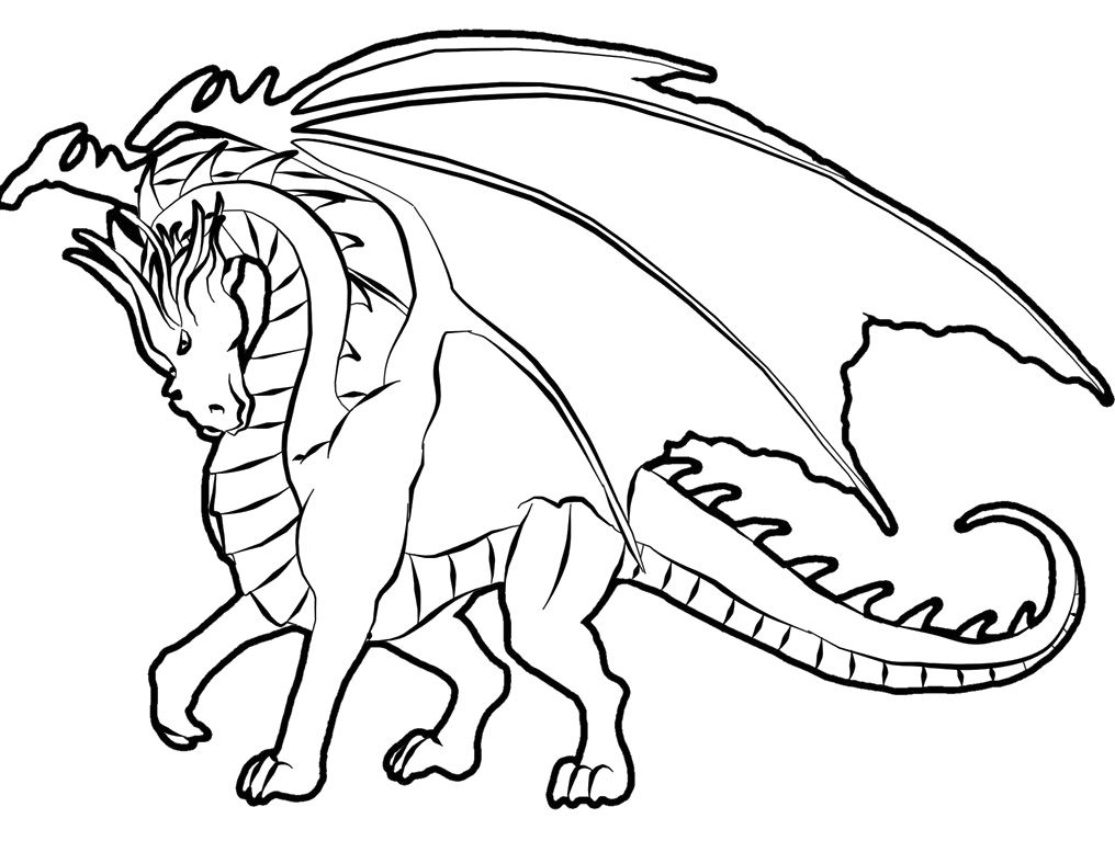 dragon coloring page 23