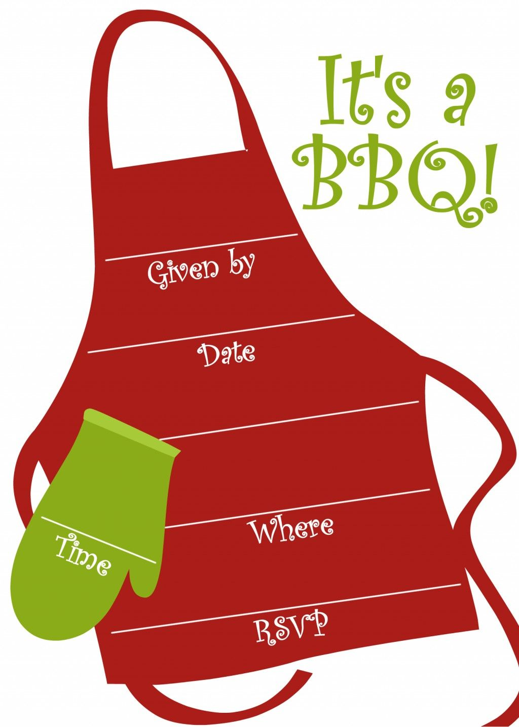 Free BBQ Party Invitations Templates | Pinterest | Party invitation ...