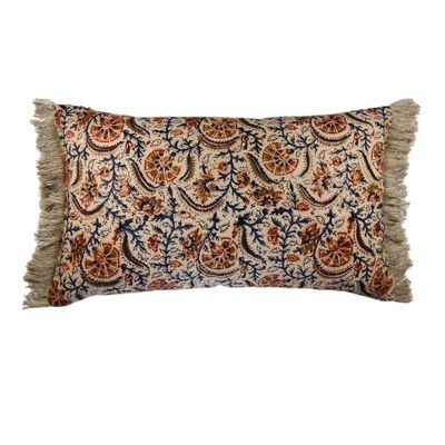 Norfolk Block Print Cushion - 30cm x 50cm - No Chintz