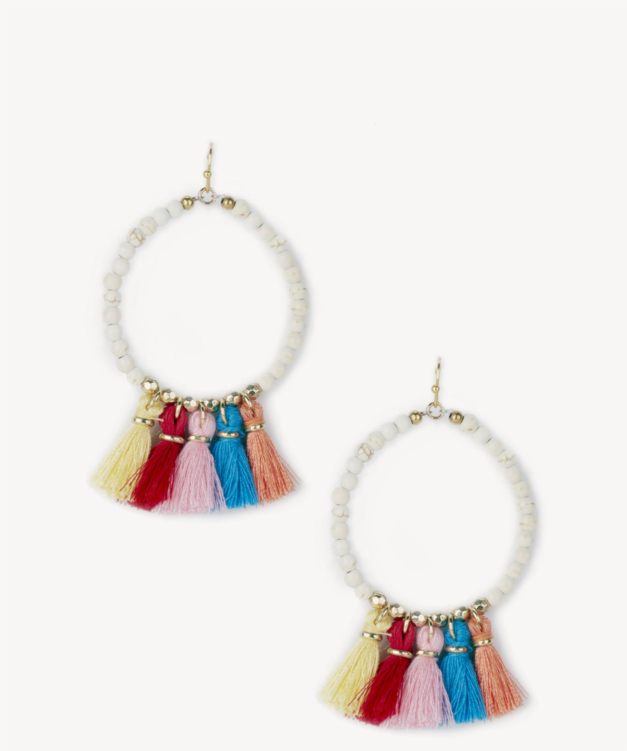 Sole Society Womens Le Carnival Teardrop Earrings White Multi One Size From Sole Society TbIumM