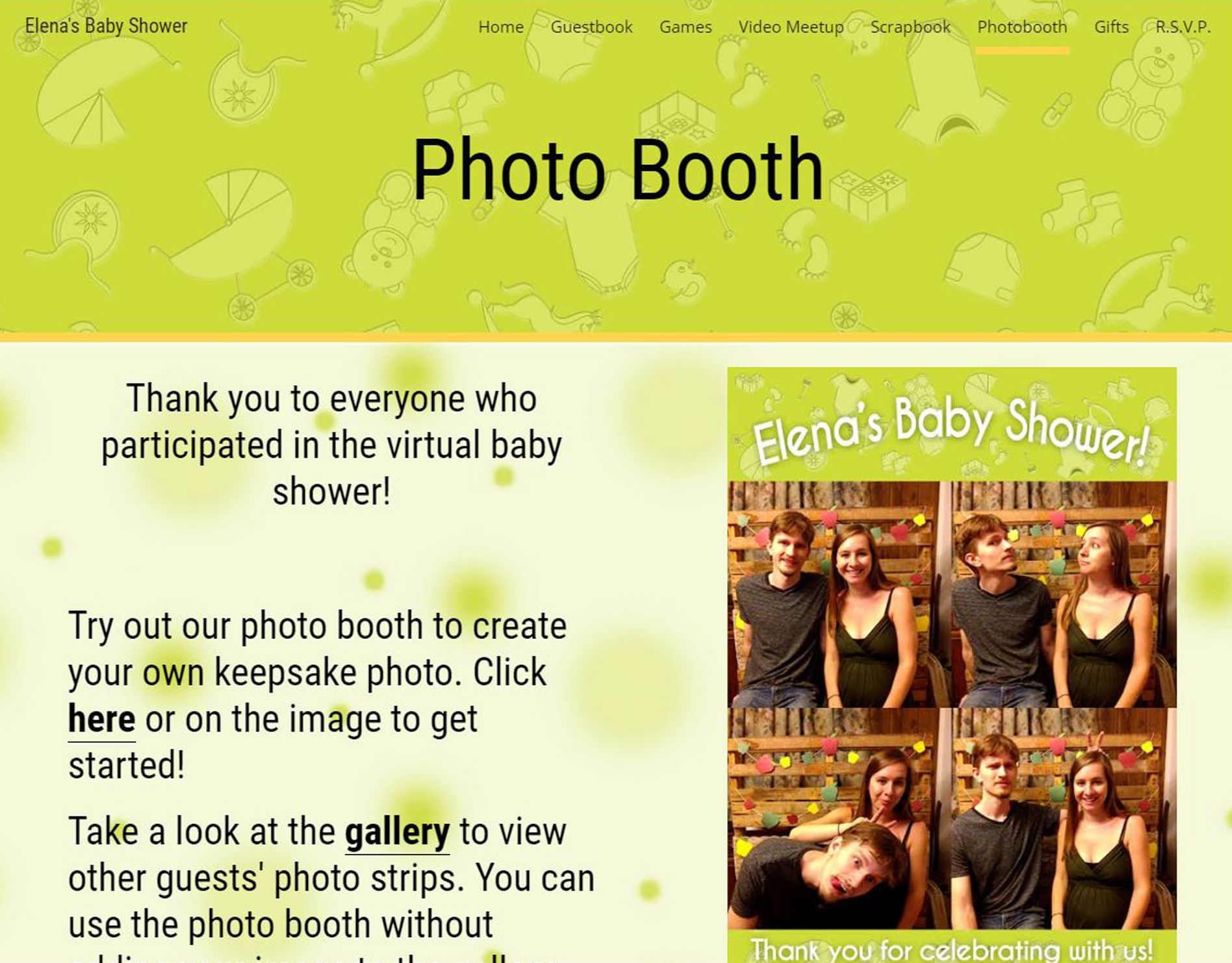 Host A Virtual Baby Shower With Your Own Personalized Event Website