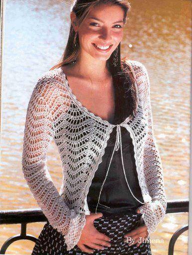 Resultado de imagen para boleros tejidas a crochet japonesas con ...