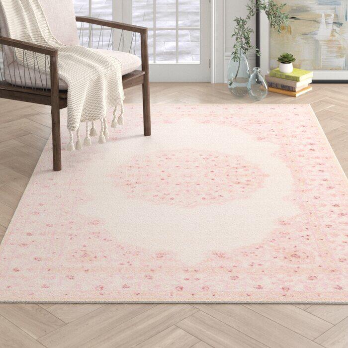 Fontanne Pink White Area Rug Reviews Joss Main Girls Bedroom Rug Pink Area Rug Nursery Girls Bedroom Green