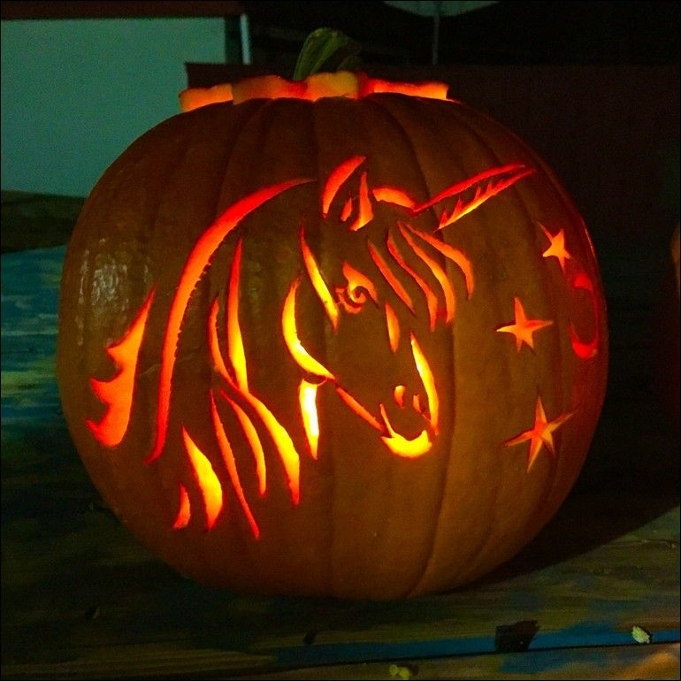 [+] Pumpkin Carving Unicorn