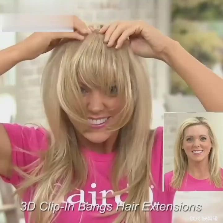 TALANG Clip In Bangs Front Blunts Fringe Wig Natur