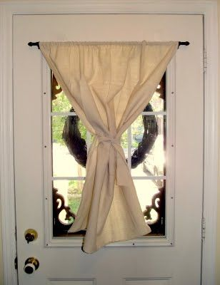 Easy Up Curtain Rod For Doors Use E6000 Instead Of Screws So You Don T Put Holes I Apartment Front Doors Curtains Without Holes Decorative Window Treatments