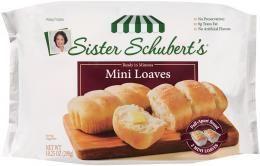 Frozen Dinner Rolls Nutrition Sister Schubert S Frozen