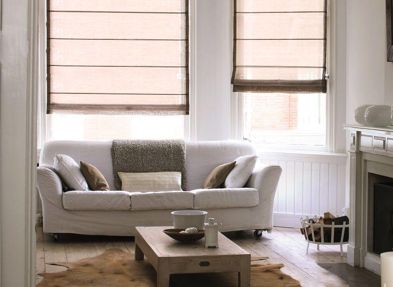 puurwonen #woonkamer #vouwgordijnen #raamdecoratie #bece #beige ...