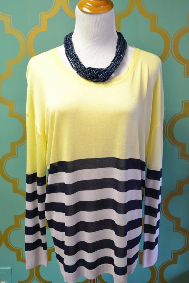 One fantastic sweater, three fabulous colors! Add a bit of spring into your wardrobe with the bright color combination of our newest lightweight sweater! It's the perfect mix of ‪#‎cuteandcomfy‬! ‪#‎shopwithpurpose‬ ‪#‎purposeboutique‬